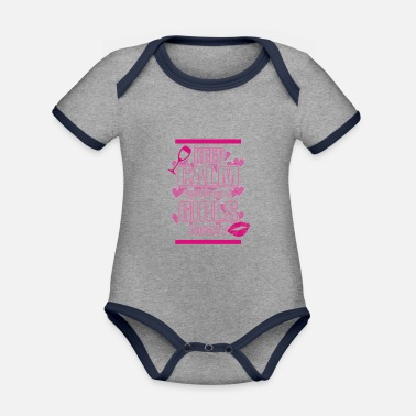 Hen Party Quotes Hen Party Quote Keep Calm Logo - Organic Contrast Baby Bodysuit