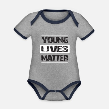 Life Matters YOUNG LIFES MATTER - Organic Contrast Baby Bodysuit