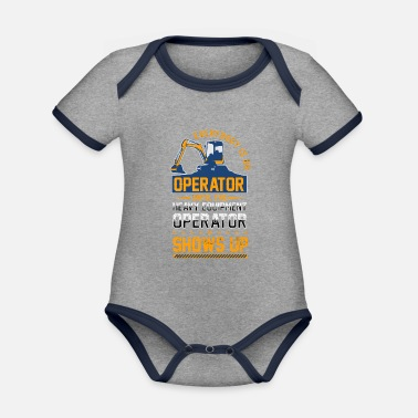 Heavy Equipment Clothing Heavy Equipment Operator Construction - Organic Contrast Baby Bodysuit