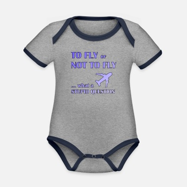 Fly To fly or not fly pilot - Organic Contrast Baby Bodysuit