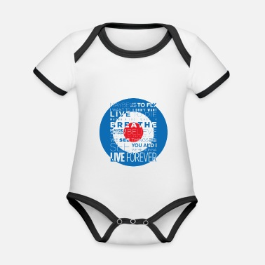 Liam Gallagher LIVE FOREVER - Organic Contrast Baby Bodysuit