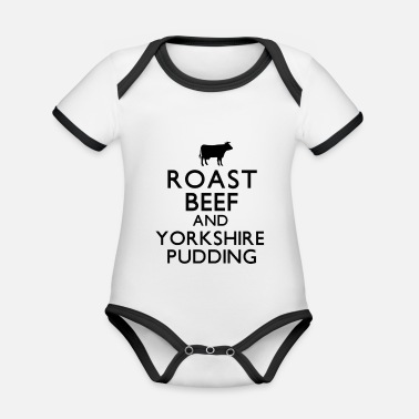Roast Beef and Yorkshire Pudding - Organic Contrast Baby Bodysuit