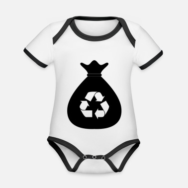 Recycling recycling - Organic Contrast Baby Bodysuit
