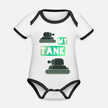 World Of Tanks My Tank - Baby Bio Kurzarmbody zweifarbig
