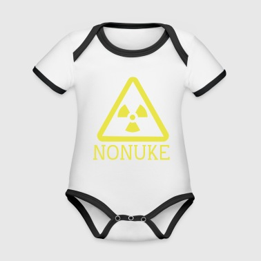 Nuclear No nuclear weapons - Organic Baby Contrasting Bodysuit