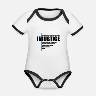 Injustice INJUSTICE! GIFT IDEA - Organic Contrast Baby Bodysuit
