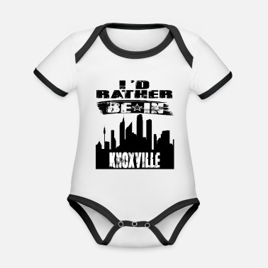 Knoxville Gift Id rather be in Knoxville - Organic Contrast Baby Bodysuit