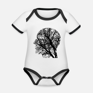 Thinkers The Thinker - Organic Contrast Baby Bodysuit