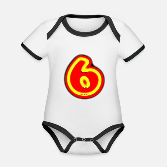 Neon Baby Clothes - sexy - Organic Contrast Baby Bodysuit white/black