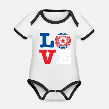 Demo KOREA DEMO REP HEART - Organic Baby Contrasting Bodysuit