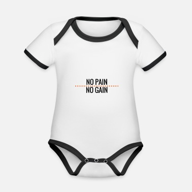 No Pain No Gain no pain no gain - Baby Bio Kurzarmbody zweifarbig