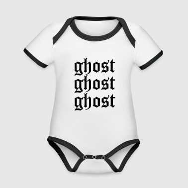 Ghost ghost ghost - Organic Baby Contrasting Bodysuit