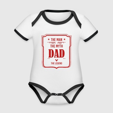 Father's Day Father's Day Gift - Organic Baby Contrasting Bodysuit