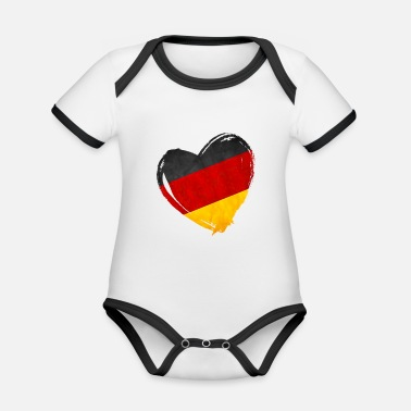 National Team A heart for the German national team - Organic Baby Contrasting Bodysuit