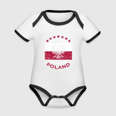 Poland football national team - Organic Baby Contrasting Bodysuit
