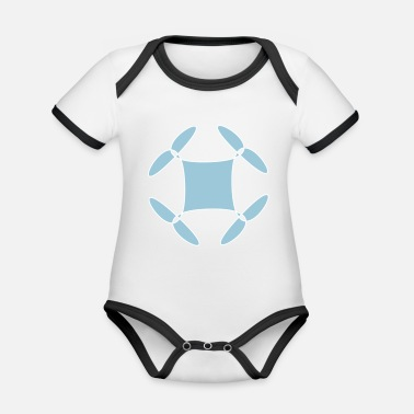 Rave Wear Abstract Rave wear - Baby Bio Kurzarmbody zweifarbig