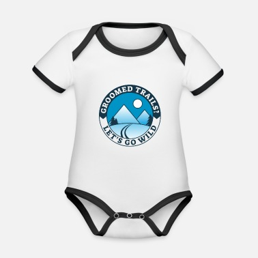 Groomed Trails? Let's Go Wild! - Organic Contrast Baby Bodysuit