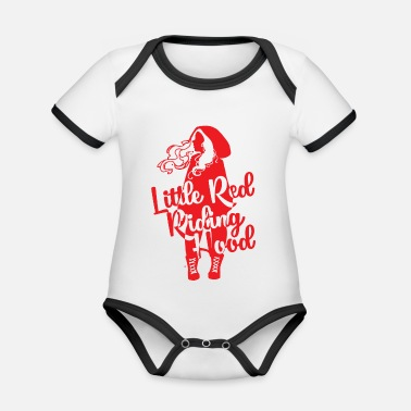 Little Red Riding Hood Fairy Tale: Red Riding Hood - Little Red Riding Hood - Organic Contrast Baby Bodysuit