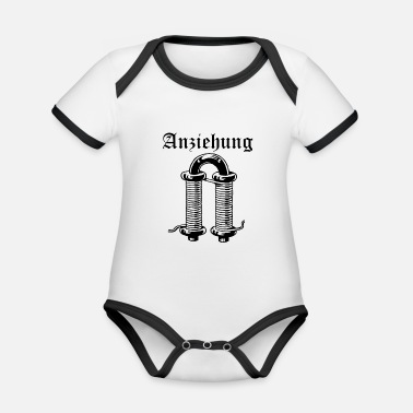 Attractive attraction - Organic Contrast Baby Bodysuit