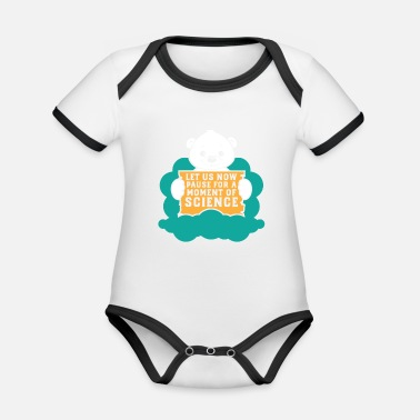Climate Change Polar Bear Protest For Science Climate Change Gift - Organic Baby Contrasting Bodysuit