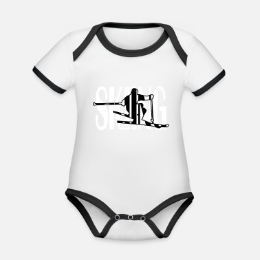 Ski Resort Skiing Gift Ski Resort Ski Freestyle Instructor - Organic Baby Contrasting Bodysuit