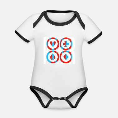Bluff Poker gift ace bluff poker pokerface holdem - Organic Baby Contrasting Bodysuit