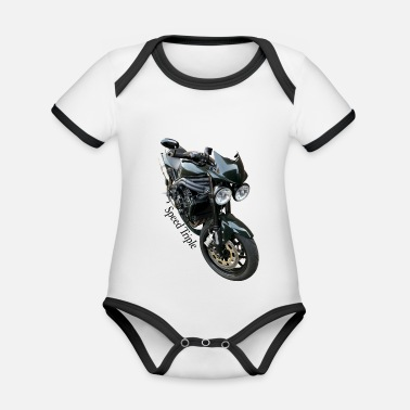 Triple Speed Triple - Baby Bio Kurzarmbody zweifarbig