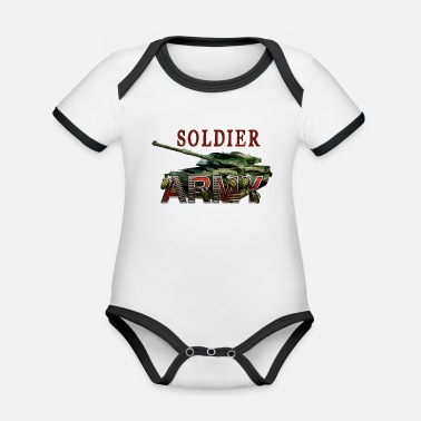 Soldier Of Fortune Soldier - Organic Contrast Baby Bodysuit