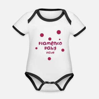 Flamenco Baby Inside ?! - Body neonato bicolor