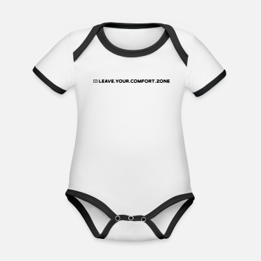 LEAVE.YOUR.COMFORT.ZONE Streetwear Home - Baby Bio Kurzarmbody zweifarbig