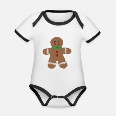 Gingerbread Man Gingerbread Man - Organic Contrast Baby Bodysuit