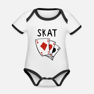 Skat Skat card game - Skat games - Skat player - Organic Baby Contrasting Bodysuit