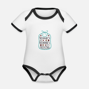 Frost Grandmothers are mothers with frosting - Organic Baby Contrasting Bodysuit