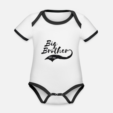 Big Big Brother Big Soeur Big Brother Est. 2018 - Body Bébé bio contrasté manches courtes
