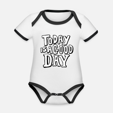 Phrase Motivational phrases - Organic Contrast Baby Bodysuit