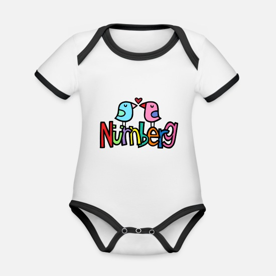 Love Baby Clothes - Nuremberg - Organic Contrast Baby Bodysuit white/black