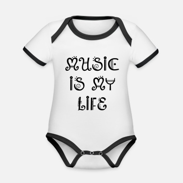 Musical MUSIC - Organic Contrast Baby Bodysuit