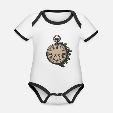 Pocket Watch pocket watch - Organic Contrast Baby Bodysuit