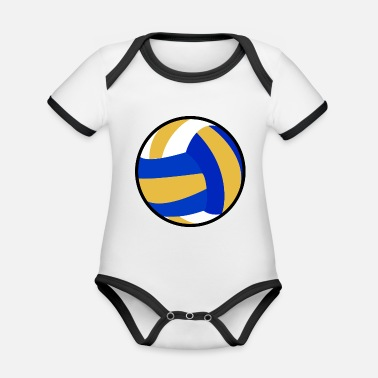 Beachvolleyball Idea regalo beachvolleyball giocatore di pallavolo - Body neonato bicolor