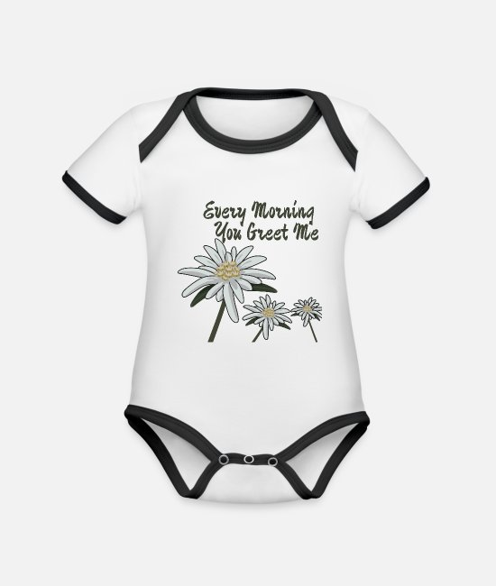 Luck Baby Clothes - Edelweiss Edelweiss Every Morning You Greet Me - Organic Contrast Baby Bodysuit white/black