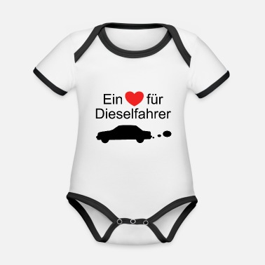 A heart for diesel drivers - Organic Baby Contrasting Bodysuit
