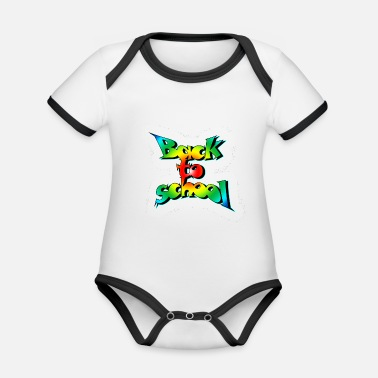 Old School Old school back to school - Organic Contrast Baby Bodysuit