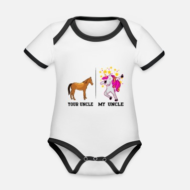 YOUR UNCLE MY UNCLE - Organic Contrast Baby Bodysuit