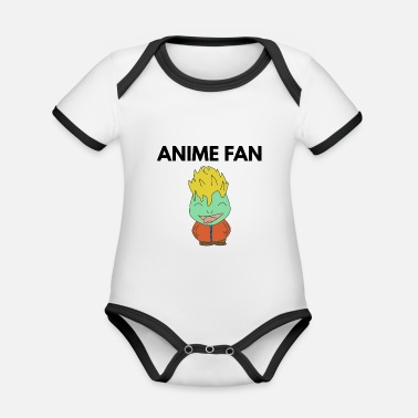 Fan Section ANIME FAN - Organic Contrast Baby Bodysuit
