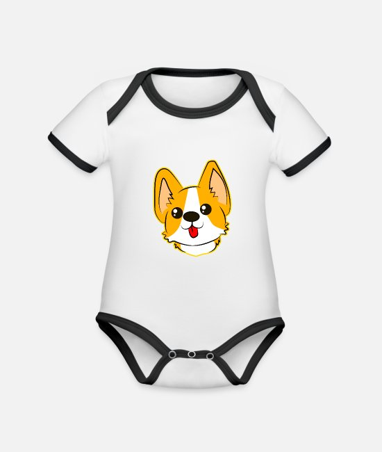 Cats And Dogs Collection Body neonato - simpatico cane con la lingua - Body neonato bicolor bianco/nero