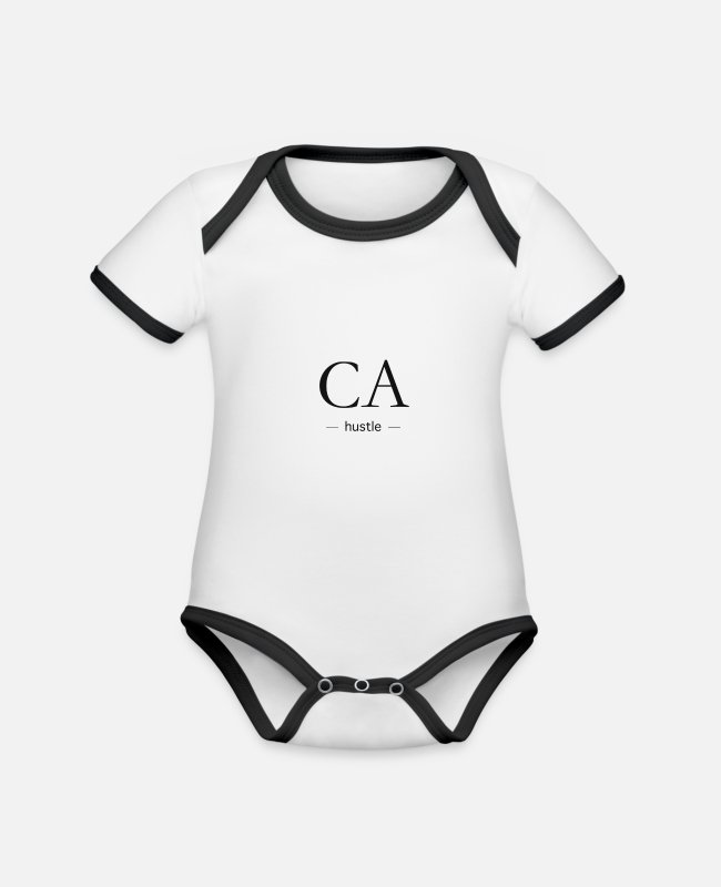 Stamp Baby Bodysuits - Be yourself, Be exclusive - Organic Contrast Baby Bodysuit white/black