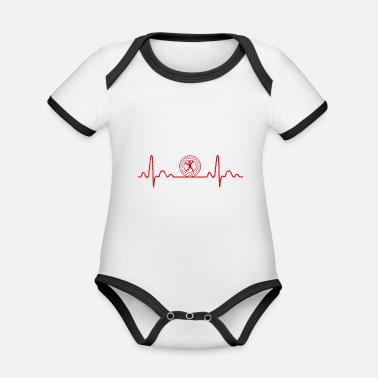 Mother Heartbeat Zorbing Globe-Riding Funny gift - Organic Contrast Baby Bodysuit