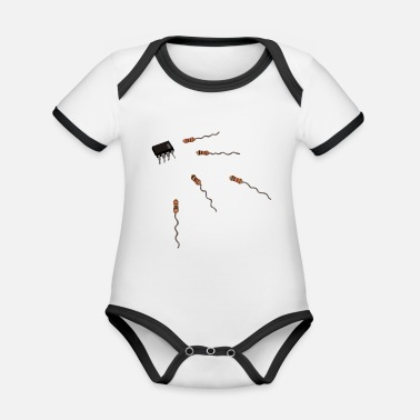 Concept Computer Conception - Organic Contrast Baby Bodysuit