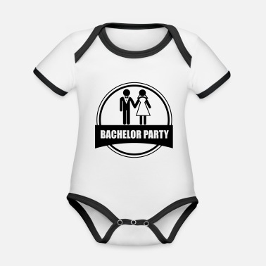 Stag Do bachelor party - stag do - Organic Contrast Baby Bodysuit