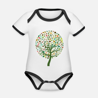 Bestsellers Q4 2018 nature - Organic Contrast Baby Bodysuit